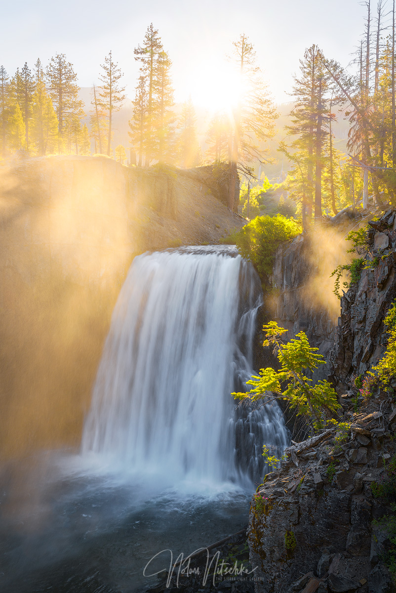 rainbow, falls, waterfall, devils postpile, national monument, california, san joaquin, mammoth lakes, photo