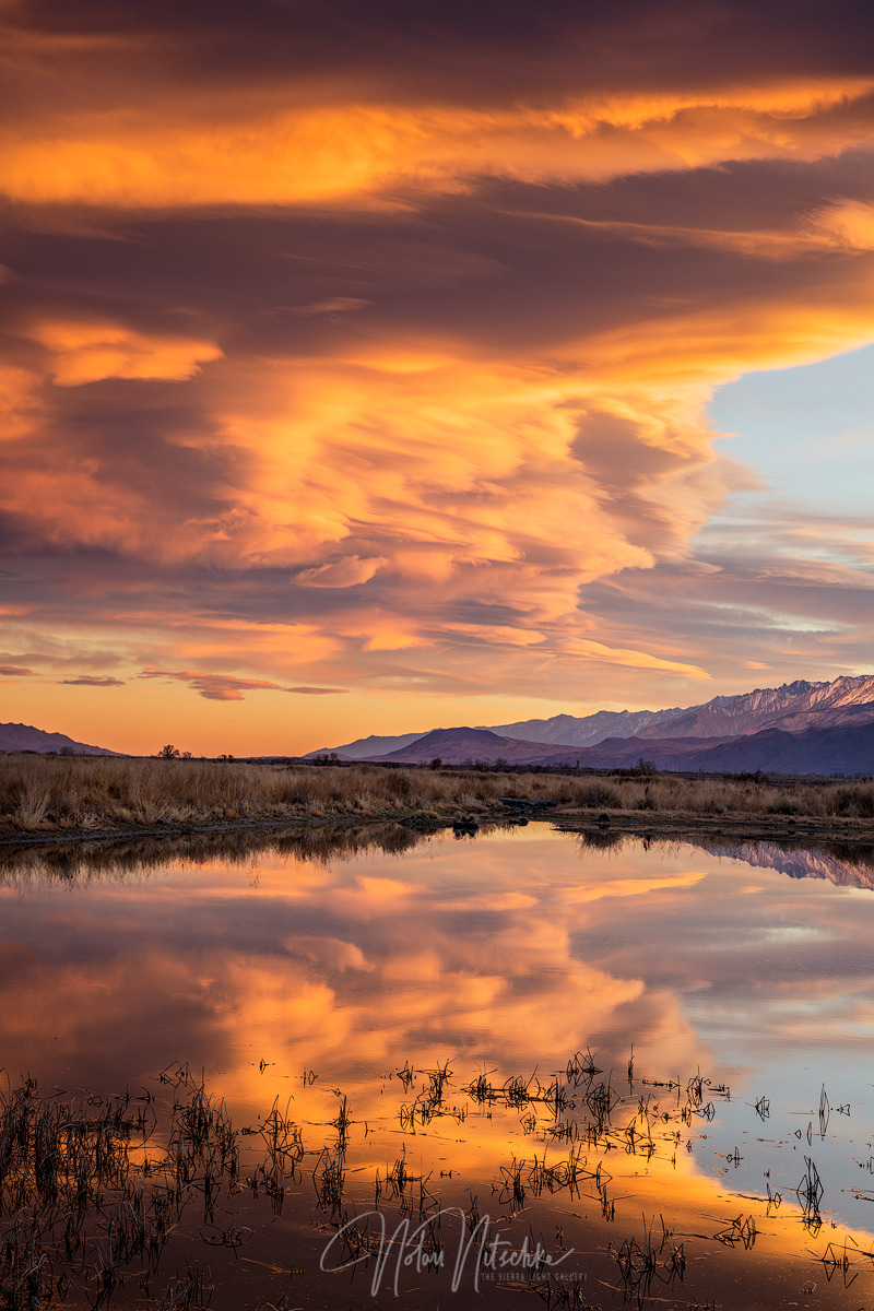 sierra wave, sierra, wave, owens valley, california, sunset, photo