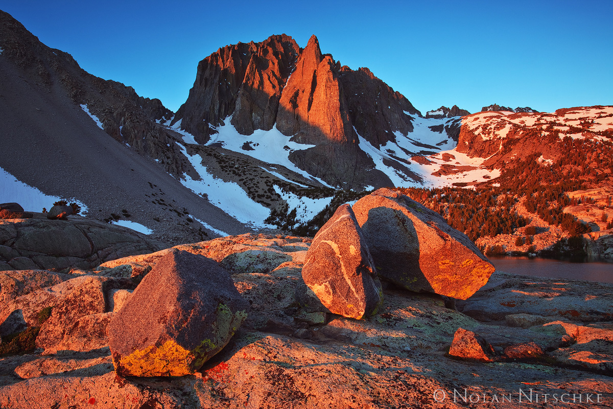 temple crag, sunrise, eastern sierra, big pine, creek, high sierra, sierra nevada, photo