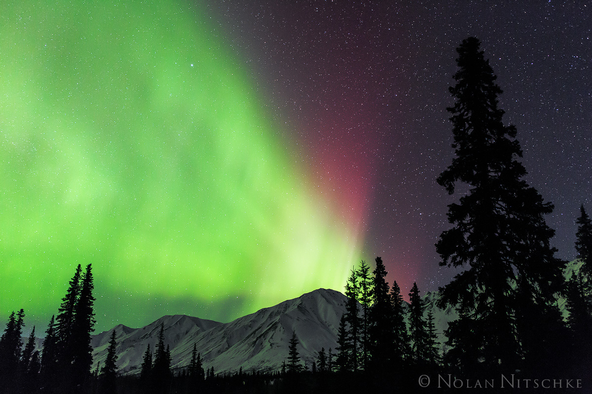 broad, pass, aurora borealis, aurora, northern lights, alaska, photo