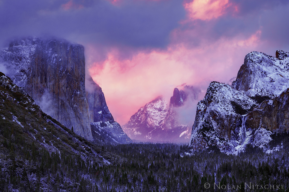 yosemite, national park, storm, clearing, sunset, valley, , photo