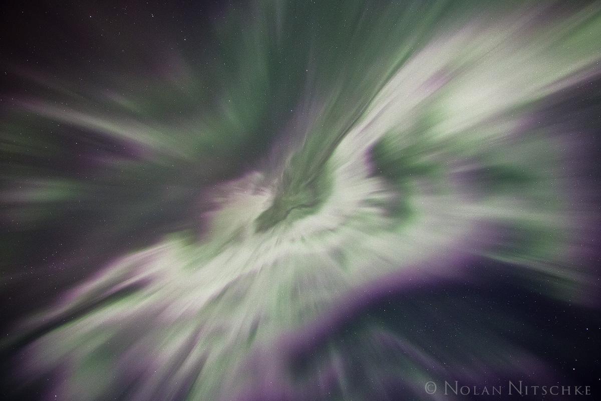 wormhole, portage, valley, up, aurora borealis, aurora, northern lights, alaska, photo